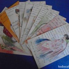 Postales: (PS-65801)SERIE DE 12 POSTALES RAMÓN CASAS. POSTCARD ORIGINAL. HACIA 1900. MODERNISMO. ART-NOUVEAU.. Lote 269957248