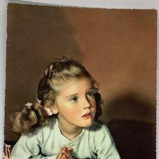 Postales: RETRATO DE NIÑA, AÑOS 50.. Lote 276200118