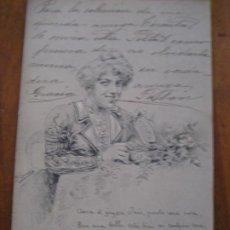 Postales: POSTAL . DAMA . CAMPOAMOR IV SERIE HUMORADAS 2 1902 . HAUSER ILUSTRADOR CARCEDO. Lote 277075223