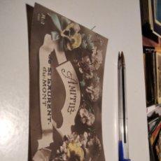 Postales: POSTAL ANTIGUA CHICA AMITIE DE ST LAURENT DU MONT. Lote 277099903