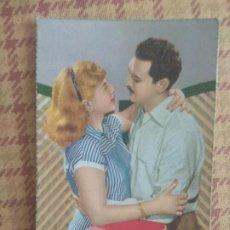 Postales: POSTAL NOVIOS AÑO 1963 ESCRITA VINTAGE. Lote 277139023
