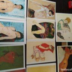 Postales: LA MUJER Y EL EROTISMO. POSTALES (85): SCHIELE, MODIGLIANI, DEGAS, MONET, DALI, GAUGUIN, KLIMT, ETC.. Lote 277244673