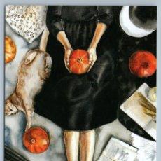 Postales: GIRL IN BLACK DRESS WITH CAT AND PUMPKIN HALLOWEEN EVE RUSSIAN NEW POSTCARD - ANASTASIA EMELYANOVA. Lote 278752443