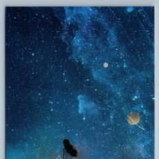 Postales: YOUNG GIRL LONG HAIR LOOK SKY STARS CONSTELLATIONS UNIVERSE UNUSUAL NEW POSTCARD - JUNGSUK LEE. Lote 278752513