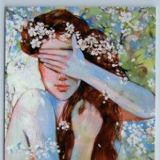 Postales: PRETTY GIRL LONG HAIR NUDE ON BLOSSOM TREE SENSUAL SPRING NATURE NEW POSTCARD - MARIA TYUNYAYEVA. Lote 278752873
