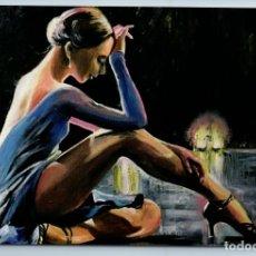 Postales: ELEGANT FEMALE DANCER BALLERINE STAGE LIGHTS SENSUAL FIGURE NEW POSTCARD - TATIANA USTIANTSEVA. Lote 278752953
