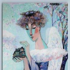 Postales: PRETTY WOMAN GUARDIAN ANGEL OF HOME HEAVEN TREE NEST UNUSUAL ART NEW POSTCARD - MARIA TYUNYAYEVA. Lote 278752968