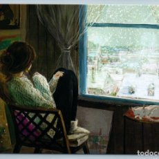 Postales: YOUNG WOMAN BY WINDOW LOOKS SNOW WINTER CITY CAT UNUSUAL ART BY LEE NEW POSTCARD - JUNGSUK LEE. Lote 278752973
