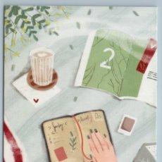 Postales: MY DAIRY PLAN BOOK COFFEE TIME ENVELOPE NOTE WOMAN HAND NEW POSTCARD - NASTYA SCHEGOLSKIH. Lote 278753048