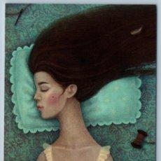 Postales: PRETTY GIRL SLEEPS LONG HAIR SLEEPING BEAUTY FAIRY TALE RUSSIAN NEW POSTCARD - GALYA ZINKO. Lote 278753078