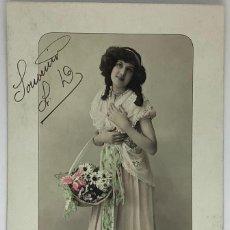Postales: RETRATO MUJER, ART DECÓ. PHOTO ORICELLY. CIRC FRANCIA MONLUÇON 1909. Lote 287800133