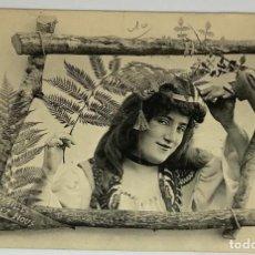 Postales: RETRATO MUJER. PHOTOTIPIE BERGERET. NANCY. CIRC 1901.. Lote 287800648