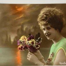 Postales: RETRATO MUJER SERIE 2010 CIRCULADA GAND 1919. FOTO REAL COLOREADA.. Lote 287800933
