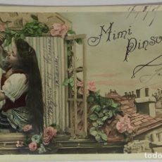 Postales: RETRATO MIMI PINSON. ART DECÓ. SERIE 913. CIRCULADA FRANCIA H 1910.. Lote 287801188