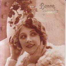 Postales: FELICITACION MODA FEMENINA 1931 POSTAL CIRCULADA. Lote 288461863