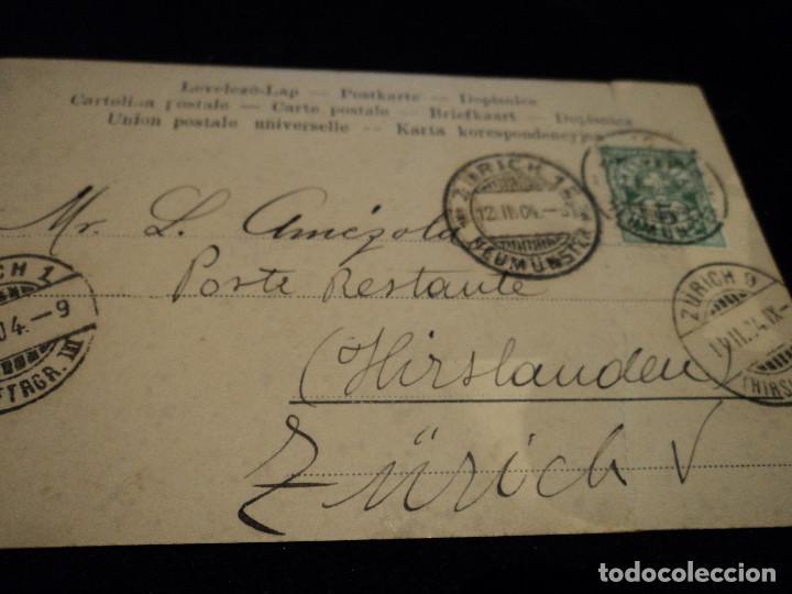 Postales: ANTIGUA POSTAL 57/4 GR& Cº W, ZURICH, 1904 - Foto 3 - 288592313
