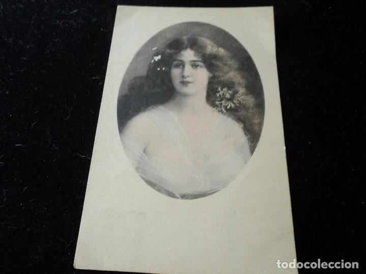 ANTIGUA POSTAL M. MUNK Nº 352 PRINTED IN AUSTRIA, SELLO ALFONSO 5 CS, 1909 (Postales - Postales Temáticas - Galantes y Mujeres)