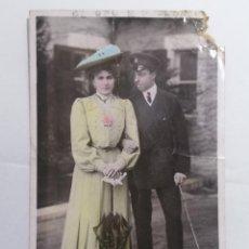 Postales: POSTAL, EL REY DE ESPAÑA Y SU PRINCESA ENA DE BATTENBERC, MADRID 1906, CIRCULADA. Lote 288715673