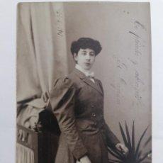 Postales: POSTAL, SEÑORITA POSANDO, AÑO 1907. Lote 288726993