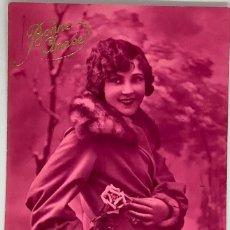 Postales: RETRATO MUJER, VIRADO MAGENTA. SOL 4035. CIRCULADA 1930. Lote 288733368