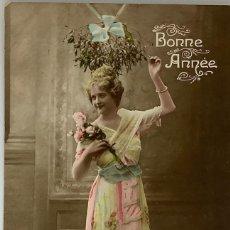Postales: RETRATO MUJER ART DECÓ. FURIA 1925. ESCRITA 1917.. Lote 288733743