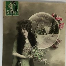 Postales: RETRATO MUJER ART DECÓ. 511 CIRCULADA 1913. Lote 288733898