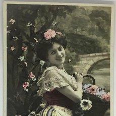 Postales: RETRATO MUJER ART DECÓ. MF PARIS 900 CIRCULADA 1908. Lote 288734478