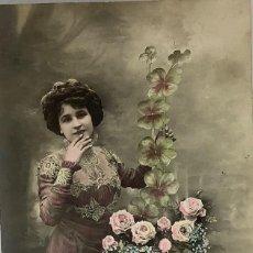 Postales: RETRATO MUJER ART DECÓ. SIX CIRCULADA 1912. Lote 288734848