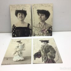 Postales: LOTE POSTALES JULIA FONS - ARTISTA CUPLETISTA - FOT FIALDRO - ARTISTA CUPLETISTA AÑO 1904. Lote 296708003