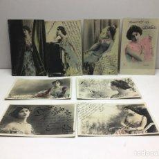 Postales: LOTE POSTALES LINA CAVALIERI - ARTISTA FRANCESA CUPLETISTA - AÑO 1903. Lote 296716248