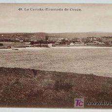 Postales: ANTIGUA POSTAL DE LA CORUÑA - ENSENADA DE ORZAN - ED. HELITIOPIA DE KALLMEYER Y GAUTIER - NO CIRCULA. Lote 4168962