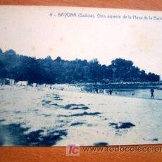 Postales: BAYONA (GALICA) OTRO ASPECTO DE LA PLAYA DE LA BARBEIRA - EDICIÓN CARRASCO. Lote 54297056