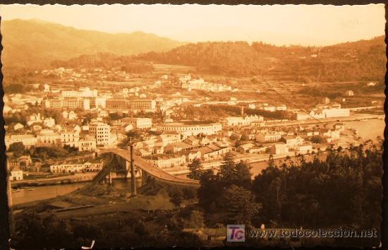 PONTEVEDRA: VISTA PARCIAL. ED. ARRIBAS Nº 93. AÑOS 40 (Postales - España - Galicia Moderna (desde 1940))