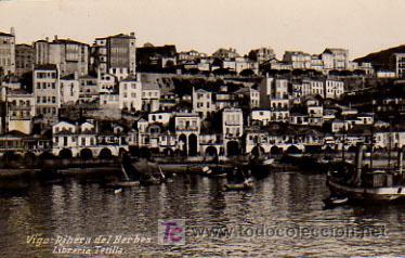 VIGO. RIBERA DEL BERBES. (LIBRERIA TETILLA) (Postales - España - Galicia Antigua (hasta 1939))