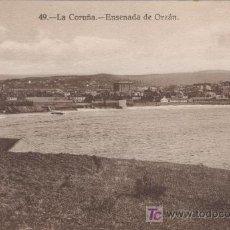 Postales: LA CORUÑA, ENSENADA DE ORZAN. HELIOTIPIA DE KALLMEYER Y GAUTIER Nº 49.-. Lote 12846820
