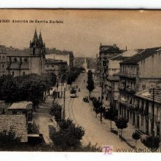 Postales: UNA POSTAL DE VIGO AVENIDA DE GARCIA BARBÓN CIRCULADA EDICION DE HAUSER Y MENET . Lote 5473741
