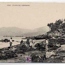 Postales: PONTEVEDRA. VIGO. PLAYA DEL ESPIÑEIRO. FOTOTIPIA HAUSER Y MENET. SIN CIRCULAR. Lote 5477682