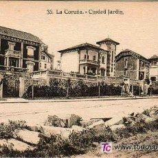 Postales: GALICIA - A CORUÑA - CIUDAD JARDIN - KALLMEYER Y GAUTIER - SIN CIRCULAR. Lote 25743265