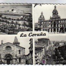 Postales: LA CORUÑA - PARQUE DE MÉNDEZ NÚÑEZ-AYUNTAMIENTO-CGTA.SANTA MARIA-AVDA.DE LOS CANTONES. Lote 26758939
