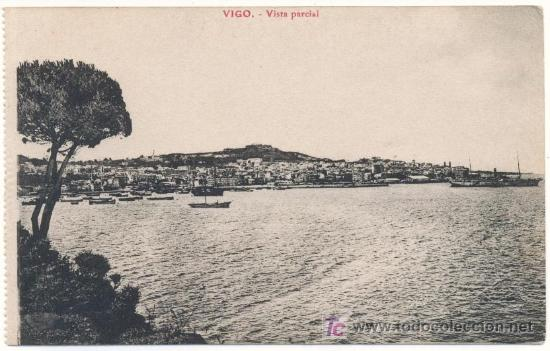 VIGO, VISTA PARCIAL - EDICION LIBRERIA E.B. TETILLA.- (Postales - España - Galicia Antigua (hasta 1939))