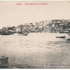 Postales: VIGO, VISTA GENERAL DE LA RIVERA - EDICION LIBRERIA E.B. TETILLA.-. Lote 12894268