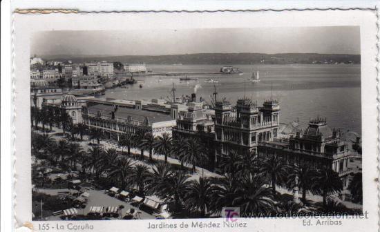155 LA CORUÑA - JARDINES DE MÉNDEZ NÚÑEZ - ED. ARRIBAS (Postales - España - Galicia Moderna (desde 1940))