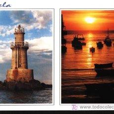 Postales: BURELA - LUGO - FARO Y PUERTO. Lote 7235667