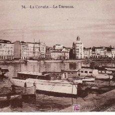 Postales: LA DARSENA. LA CORUÑA. HELIOTIPIA DE KALLMEYER Y GAUTIER.MADRID.. Lote 27493226