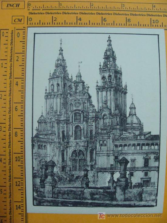 CATEDRAL DE SANTIAGO DE COMPOSTELA. ANTIGUA. PERFECTA. SIN ESCRIBIR. SERIE. (Postales - España - Galicia Moderna (desde 1940))