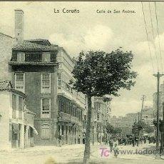 Postales: POSTAL LA CORUÑA CALLE DE SAN ANDRES. Lote 7422640