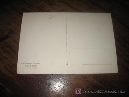 Postales: SANTIAGO DE COMPOSTELA RUA DEL VILLAR - Foto 2 - 7445783