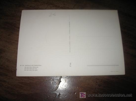 Postales: SANTIAGO DE COMPOSTELA RUA DEL VILLAR (NOCTURNA) - Foto 2 - 7445879