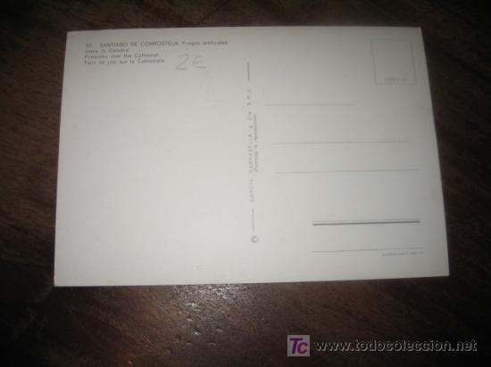 Postales: SANTIAGO DE COMPOSTELA FUEGOS ARTIFICIALES - Foto 2 - 7449190