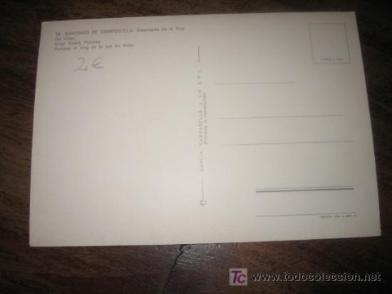 Postales: SANTIAGO DE COMPOSTELA RUA DEL VILLAR - Foto 2 - 7449455